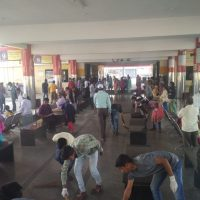 Cleaning of Nipani bus stand
